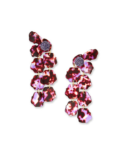 Hand-Swirled Petal Drop Earrings