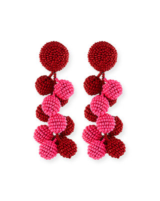 Sachin & Babi Two-Tone Coconut Beaded Clip Eearings