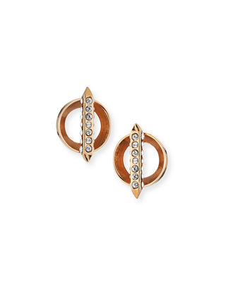 Image 1 of 3: Mio Bar Stud Crystal Earrings