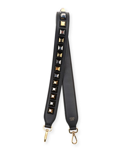 Fendi Strap You Studded Calf Shoulder Strap