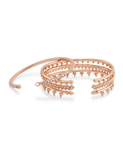 Kendra Scott Delphine Crystal Stacking Bracelets