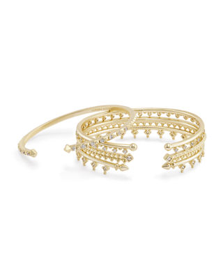 Delphine Crystal Stacking Bracelets