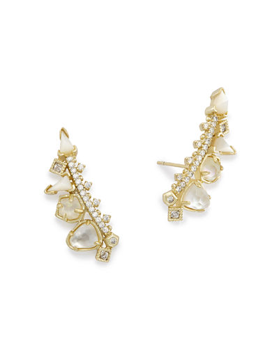 Kendra Scott Clarissa Crystal Climber Earrings