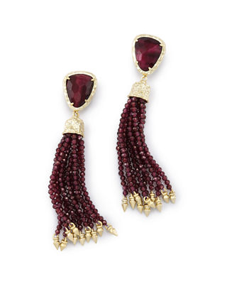 Kendra Scott Blossom Pearly Tassel Earrings