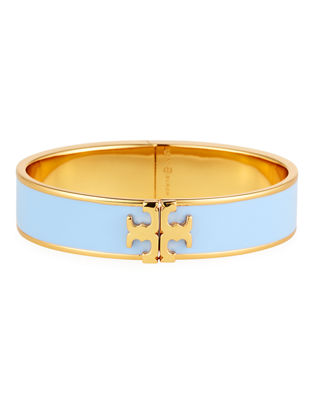 Image 1 of 2: Enamel Logo Bangle Bracelet