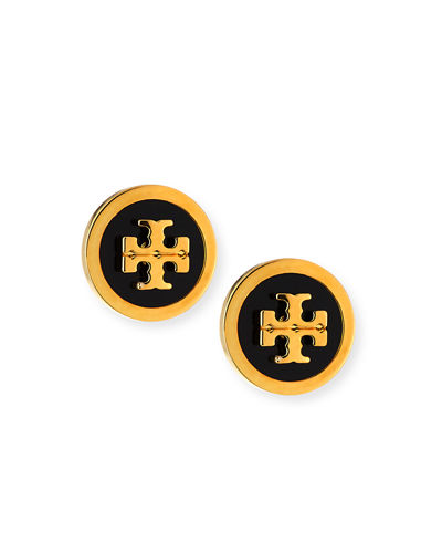 Lacquered Logo Stud Earrings