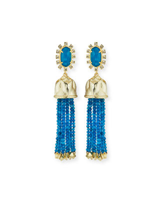 Kendra Scott Decker Beaded Tassel Statement Earrings