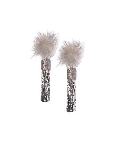 Mignonne Gavigan Mini Jackie Mink Fur Statement Earrings