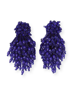 Burst Beaded Statement Earrings