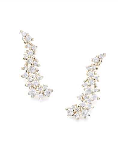 Kendra Scott Petunia Crystal Crawler Earrings
