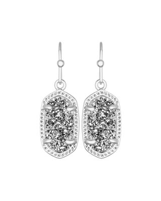 Kendra Scott Lee Earrings in 14k White Plated