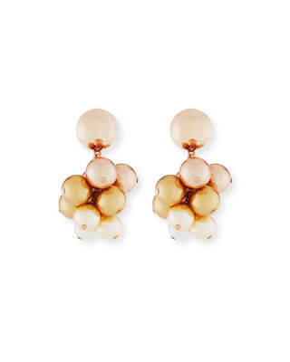 Pearly Vine Clip-On Earrings