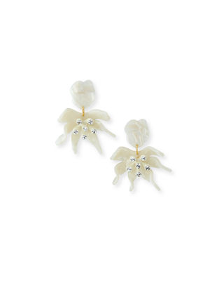 LELE SADOUGHI Daffodil Statement Clip-On Earrings in Mother Of Pearl