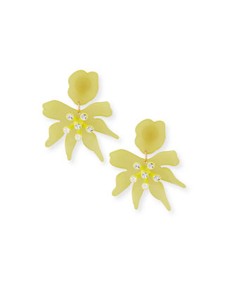 Lele Sadoughi Daffodil Statement Earrings