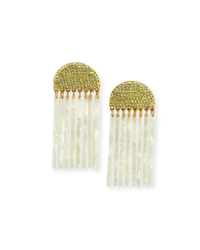 Crystal Comb Clip-On Drop Earrings