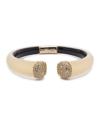 Alexis Bittar Pav?? Crystal Break Hinge Bracelet, Golden