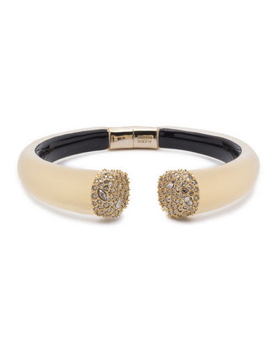 Pave Crystal Break Hinge Bracelet