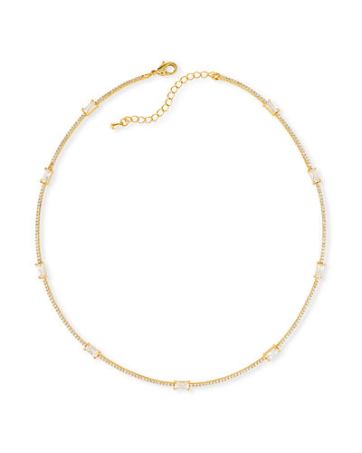 Baguette Bar Collar Necklace