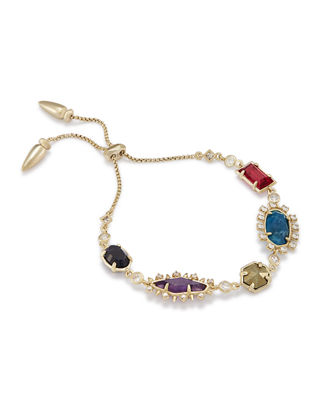 Kendra Scott Alicia Mixed-Cut Station Bracelet