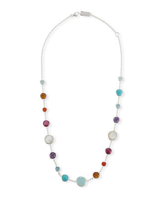 Lollitini Sterling Silver Necklace in Eclipse, 16""