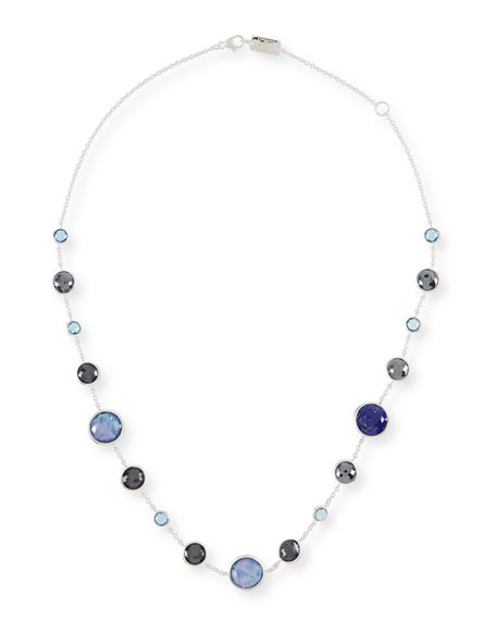 """Ippolita Necklaces LOLLITINI STERLING SILVER NECKLACE IN ECLIPSE, 16"""""""
