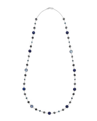 """Lollitini Sterling Silver Necklace in Eclipse, 36"""""""