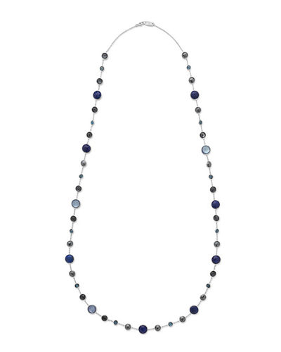 Lollitini Sterling Silver Necklace in Eclipse, 36