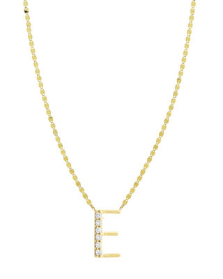 Get Personal Initial Pendant Necklace With Diamonds in E