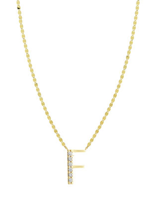 Get Personal Initial Pendant Necklace With Diamonds in F