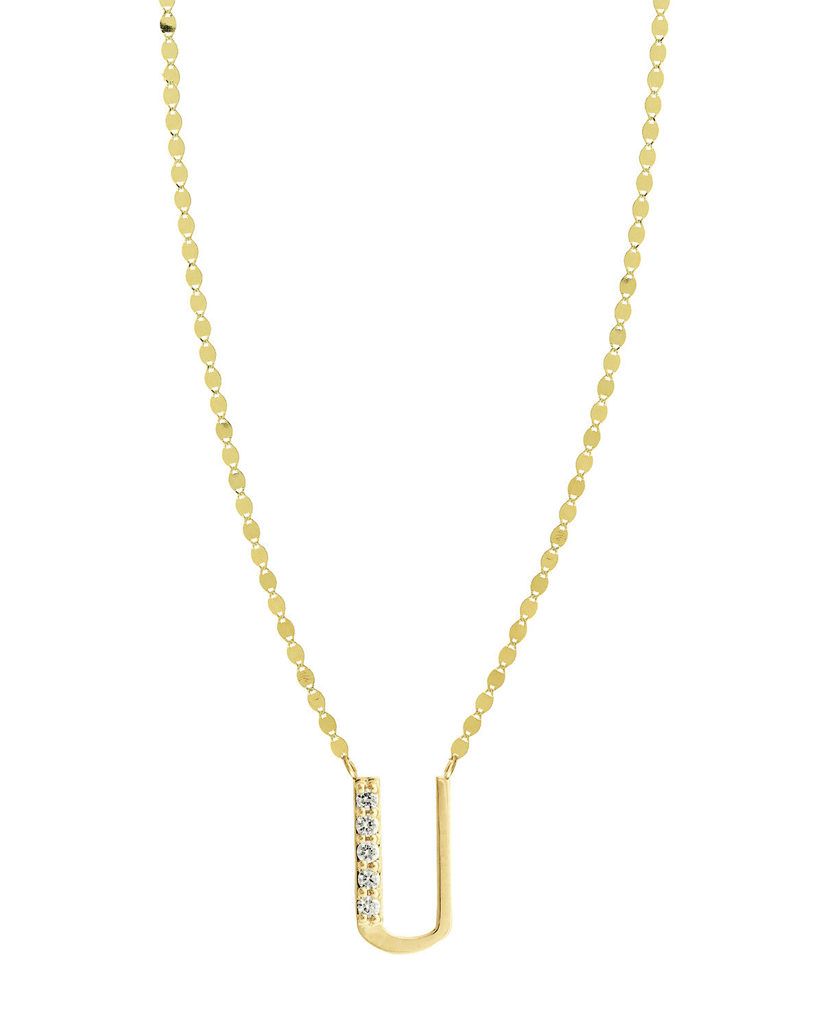 Lana Get Personal Initial Pendant Necklace with Diamonds