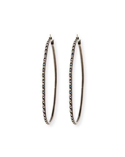 Annemarie Crystal Hoop Earrings