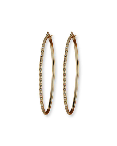 Kendra Scott Annemarie Crystal Hoop Earrings