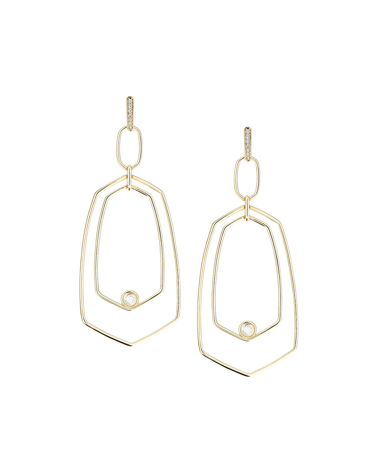 Tra Geometric Drop Earrings