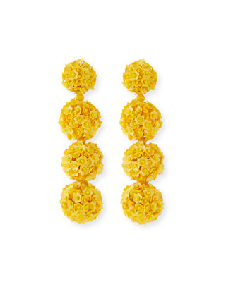 Image 1 of 4: Fleur Bouquet Clip-On Earrings