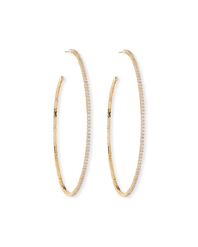 Armure Pave Macro Hoop Earrings