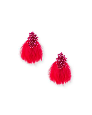 Mignonne Gavigan Mini Delaney Bead & Feather Drop