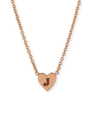 811e68da0 Zoe Chicco 14K Tiny Heart Initial Pendant Necklace