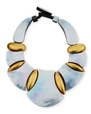 Viktoria Hayman Swirl Statement Collar Necklace bSKHK