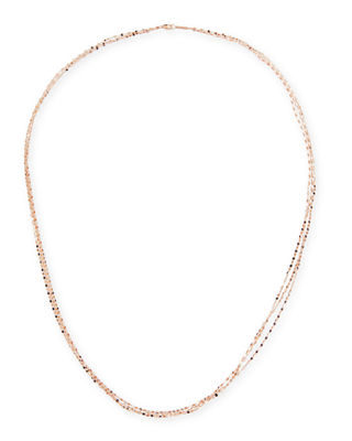 LANA Blake Three-Strand Chain Necklace in 14K Gold,