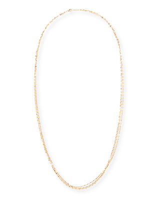 "Blake Three-Strand Chain Necklace in 14K Gold, 30""L"