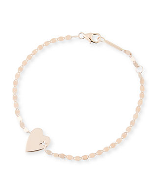 Image 1 of 2: 14k Petite Heart Bracelet w/ White Diamond