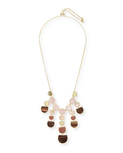Corbin Mixed Stone Bib Statement Necklace