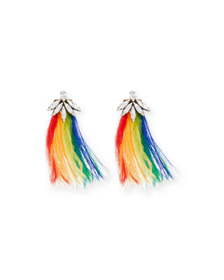 AUDEN AVERY FEATHER DROP EARRINGS