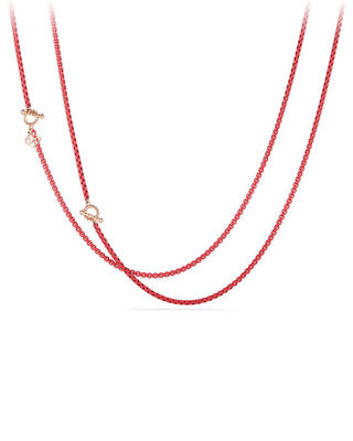 David Yurman Bel-Aire Adjustable Enamel Chain Necklace, 41