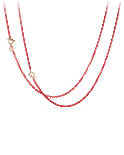 Bel-Aire Adjustable Enamel Chain Necklace, 41