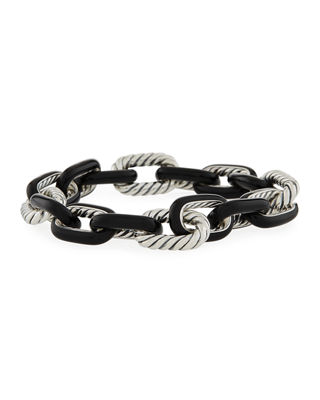 David Yurman Madison?? Enamel/Silver Chain Bracelet