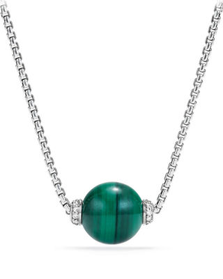 Image 1 of 2: Solari Bead Pendant Necklace w/ Diamonds