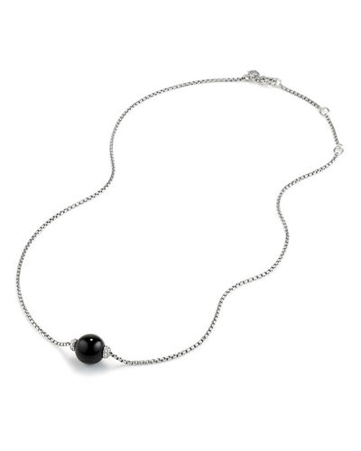 Solari Bead Pendant Necklace w/ Diamonds