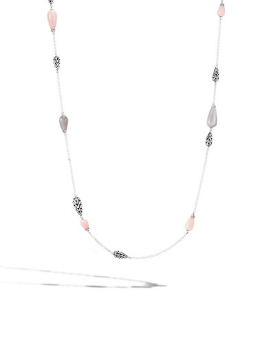 Classic Chain Teardrop Station Necklace, 36