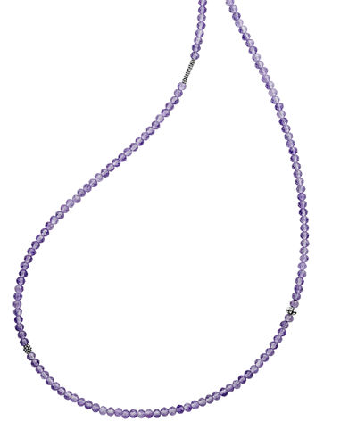 Caviar Icon Long Single-Strand Bead Necklace, 34